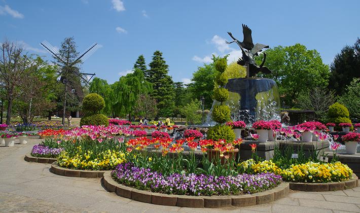 アンデルセンの育った風景をイメージ<br> 動物とふれあえる「ふなばしアンデルセン公園」
