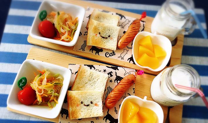 子どもが喜ぶ ちょこっとデコ パン編 Hapiku ハピク 食育