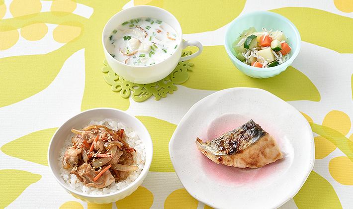 春が旬の食材を使ったレシピ&人気のスタミナ丼ぶり<br> <font>【保育園の人気メニュー:4月】</font>