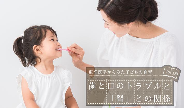 歯と口のトラブルと「腎」との関係