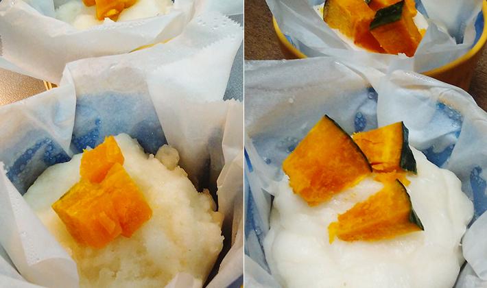 小麦アレルギーのお子さんに…<br> レンジで簡単!米粉蒸しパン