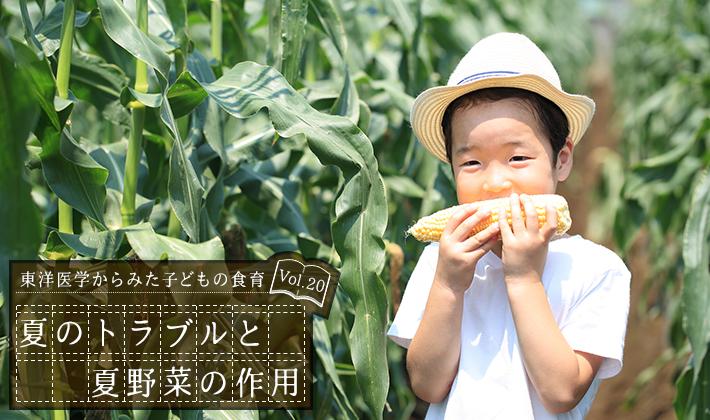 夏のトラブルと夏野菜の作用