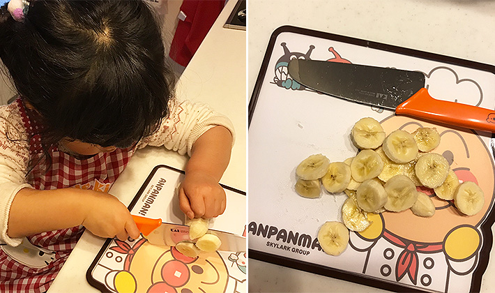 3歳の娘の包丁デビューをリポート!