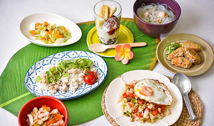 世界の料理を食べてみよう!~第1弾~<br> おうちにある調味料で作るアジアンレシピ♪